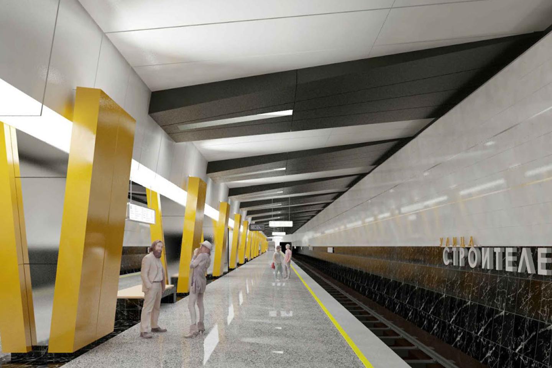 Колонны в форме буквы «V» появятся на станции метро «Улица Строителей» в Москве