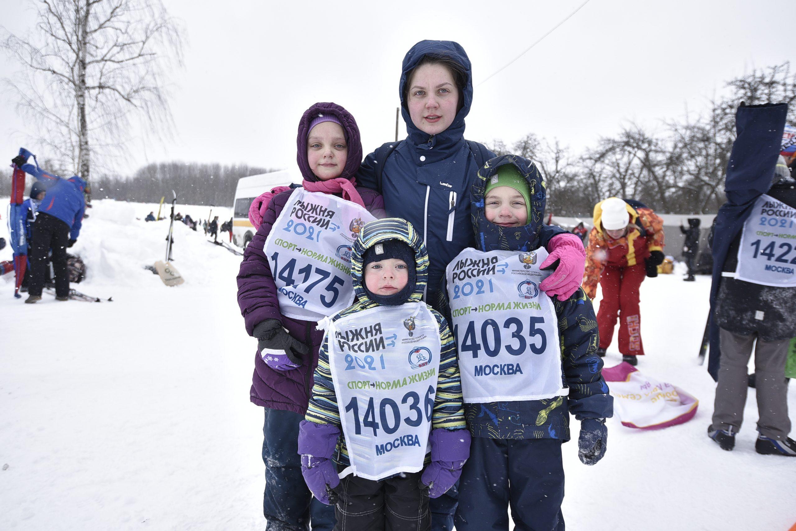 Юные лыжники одолели сложную гоночную трассу