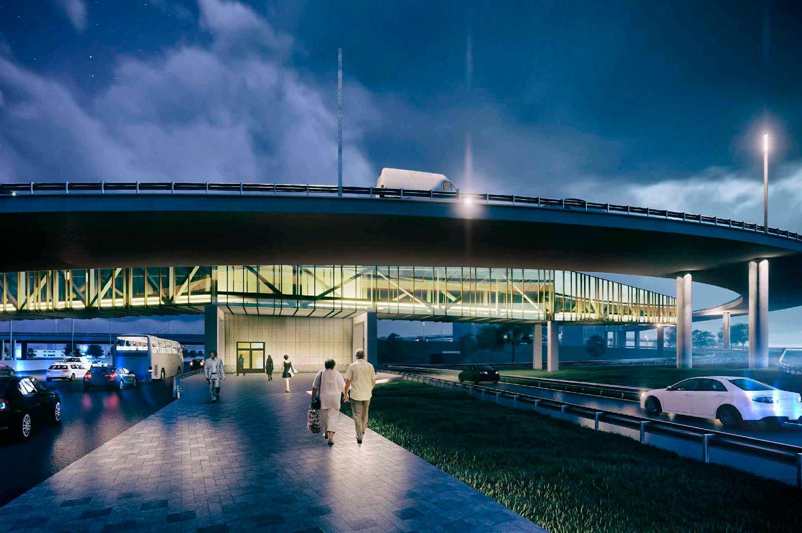 Полукруглый переход построят на развязке МКАД – Новоегорьевское шоссе в Москве