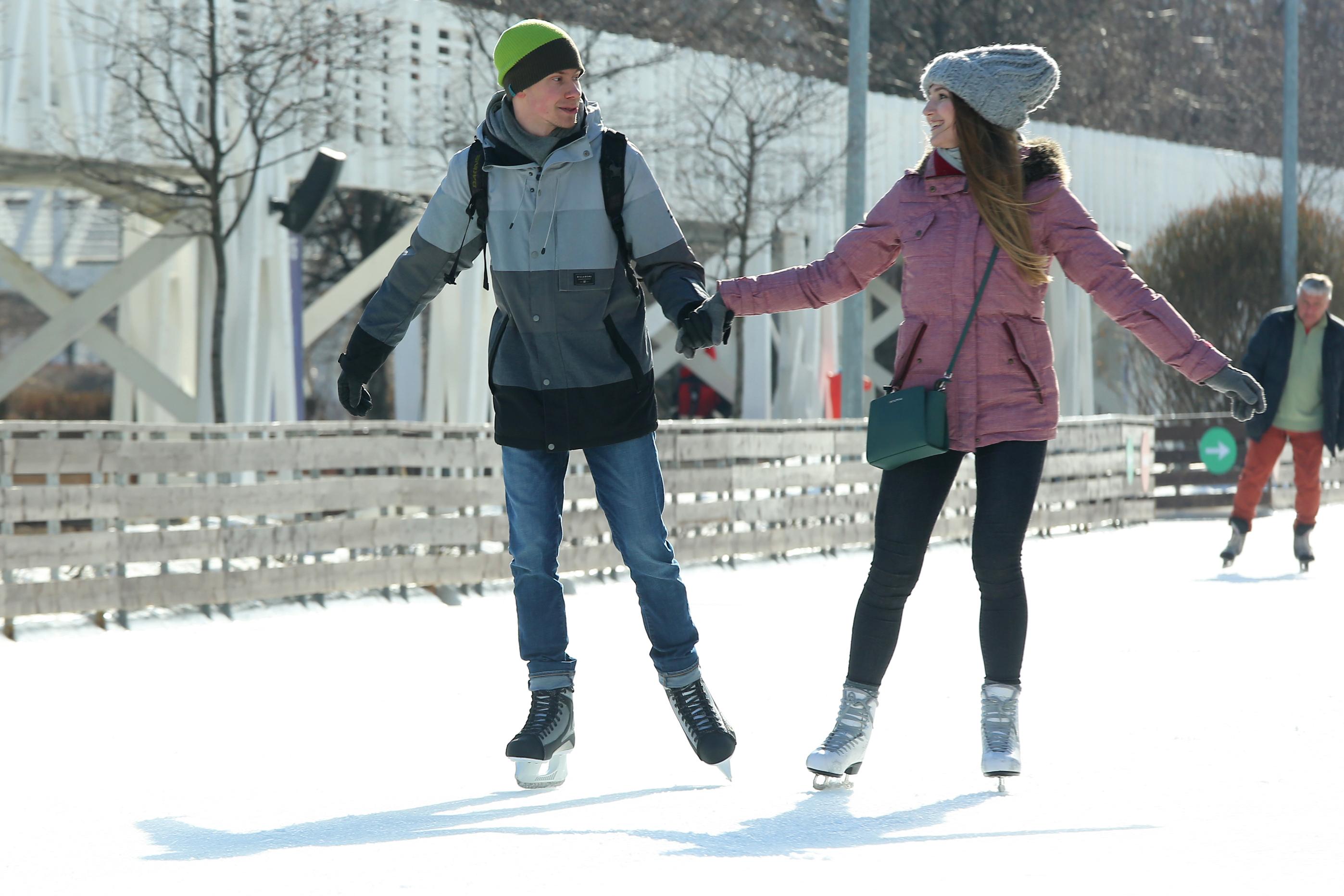 На катках 10 парков столицы в День всех влюбленных пройдет акция по поиску «второй половинки»