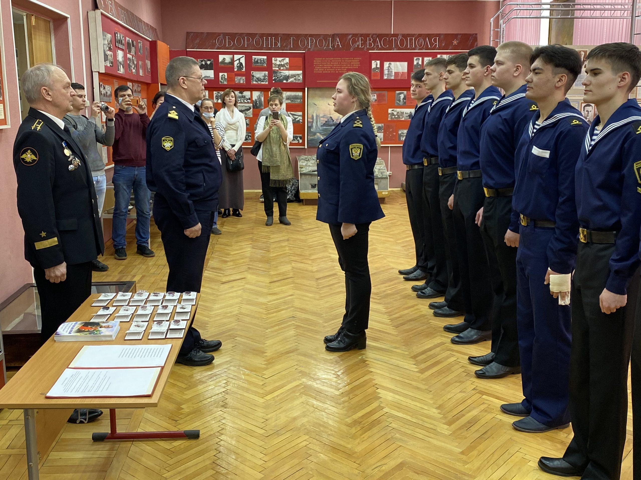Студенты колледжа Академии водного транспорта приняли клятву «Юнармейца»