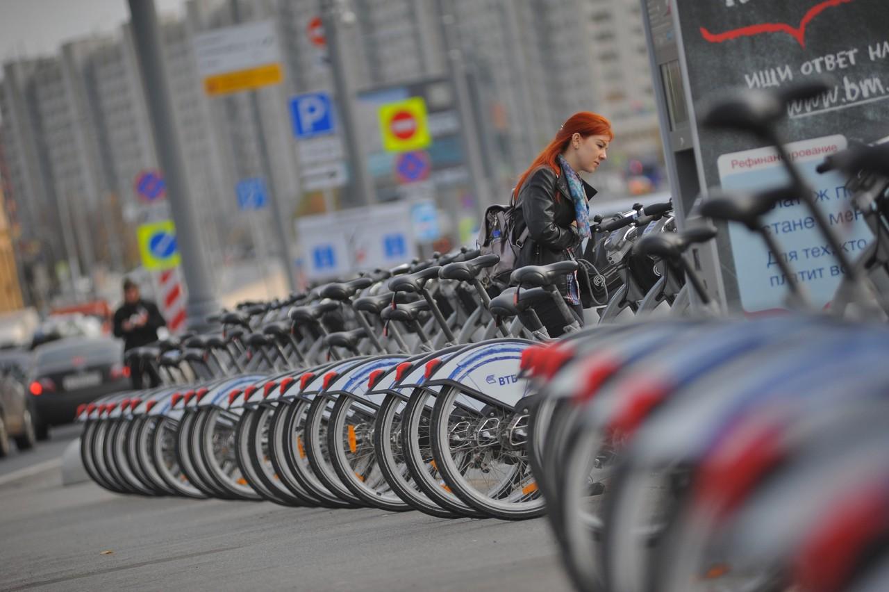 Пункты проката велосипедов открылись в Москве