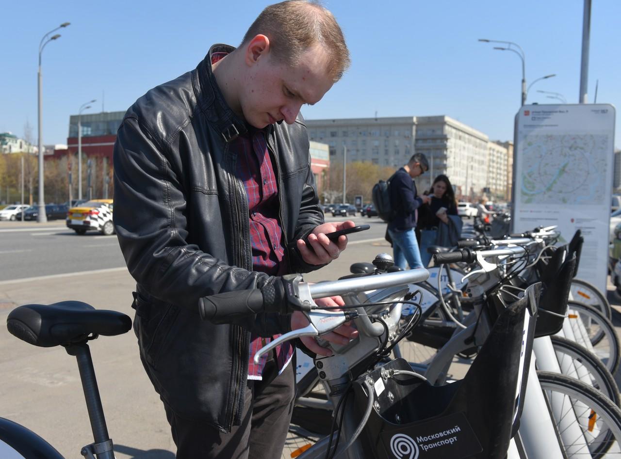Прокат велосипедов в Москве в этом году откроется рано