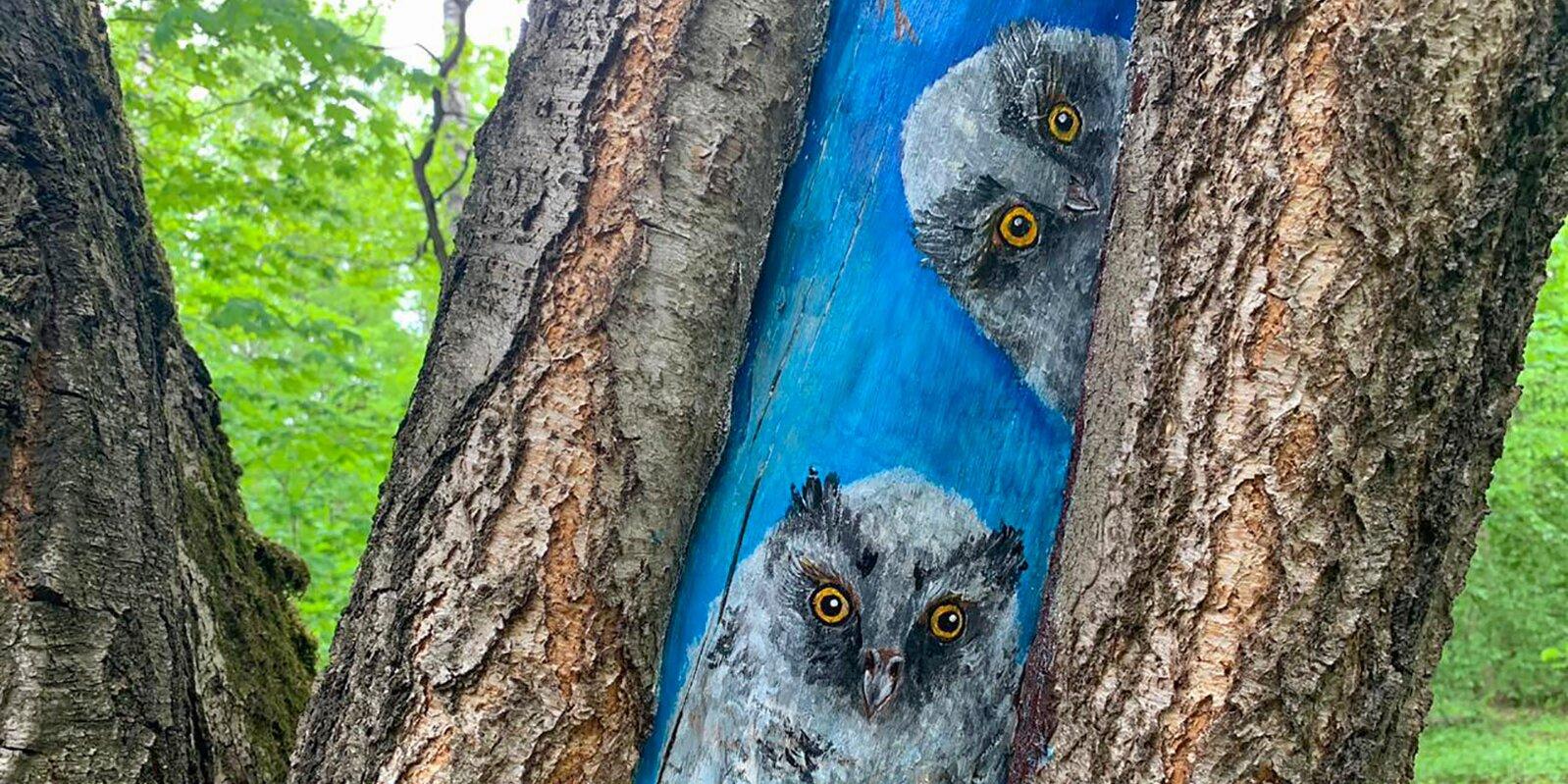 Деревья в «Царицине» украсят рисунками