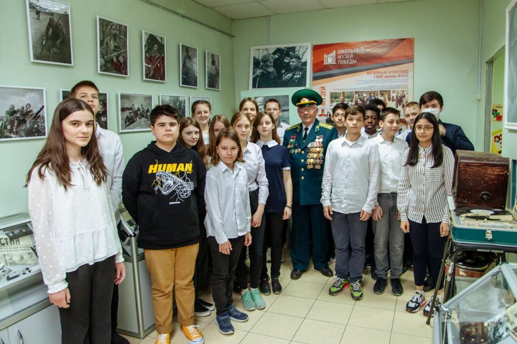 Открытие новой экспозиции состоялось в музее школы №504