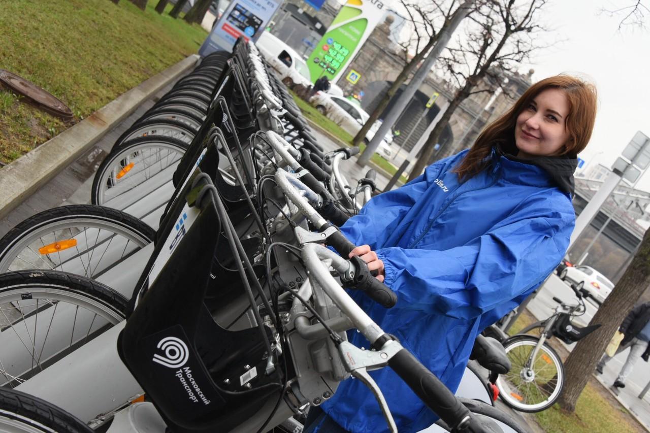 Более полумиллиона москвичей воспользовались велопрокатом за месяц