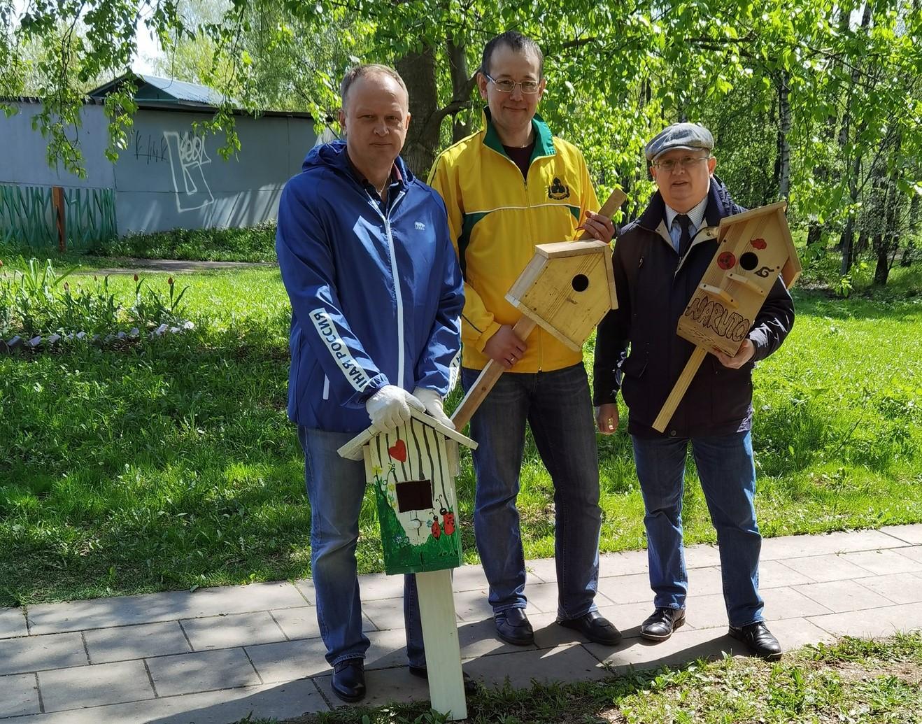 Зеленый город: птичьи домики вывесили в Орехове-Борисове Южном