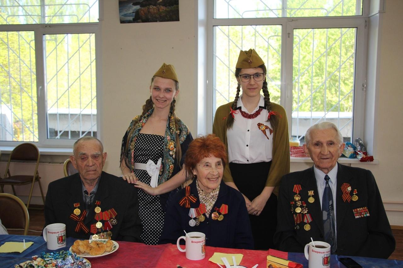 Чаепитие с ветеранами состоялось в библиотеке №167