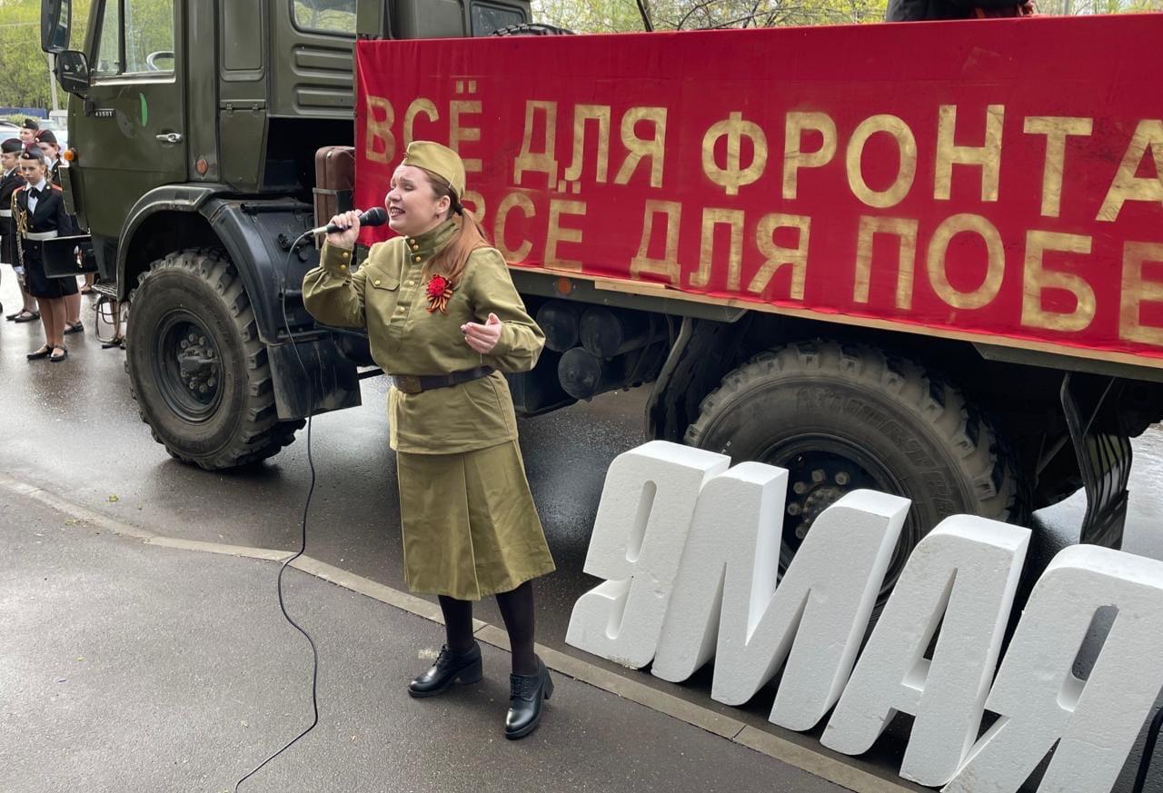 Шествие ко Дню Победы организовали в Нагатинском Затоне