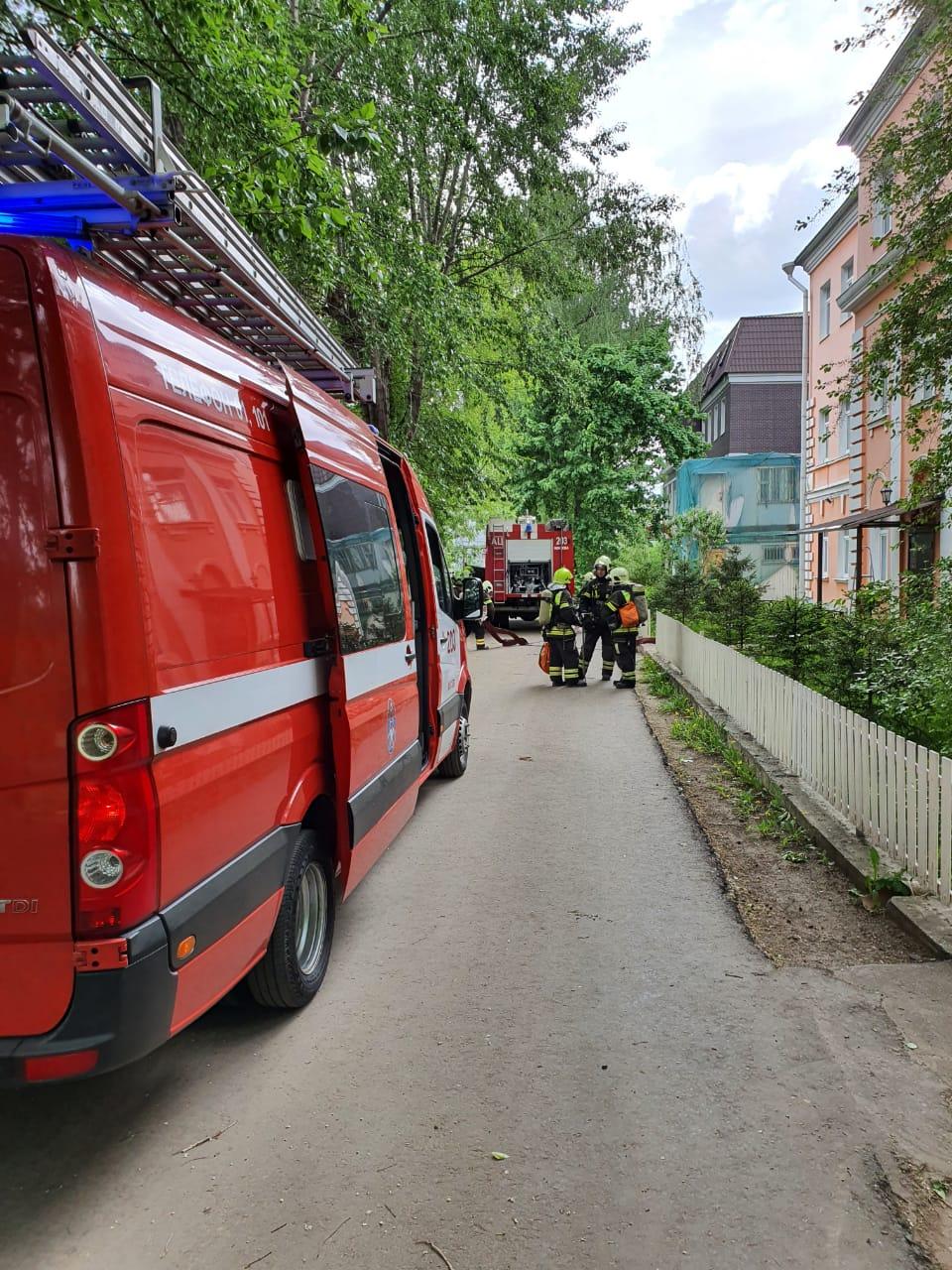 На юге Москвы прошли пожарно-тактические учения
