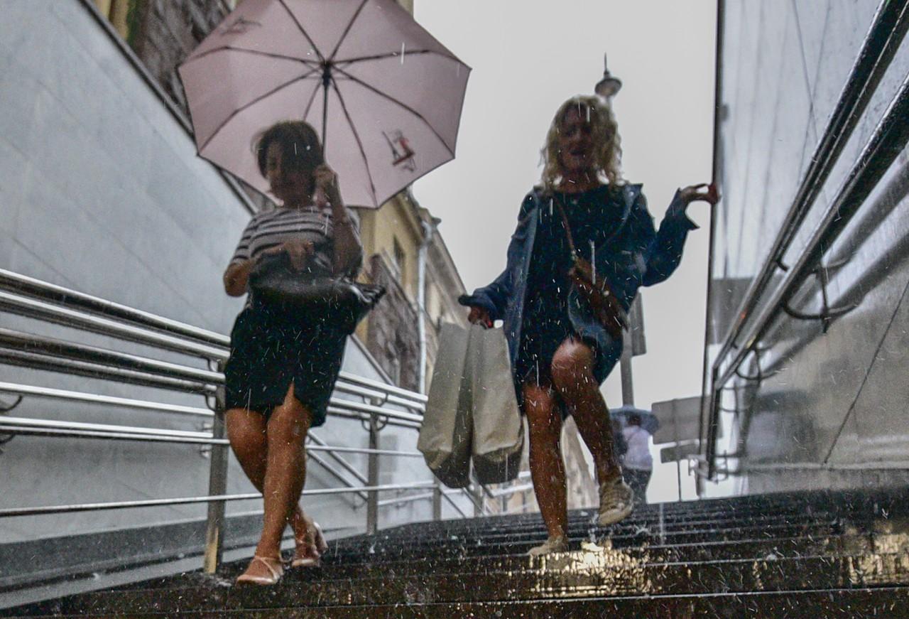На Москву надвигаются дожди с градом
