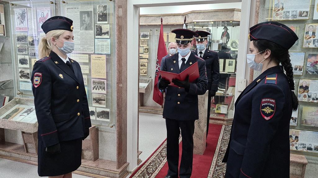 Председатель Общественного совета при УВД по ЮАО Харис Ильясов принял участие в торжественном принятии присяги молодыми полицейскими