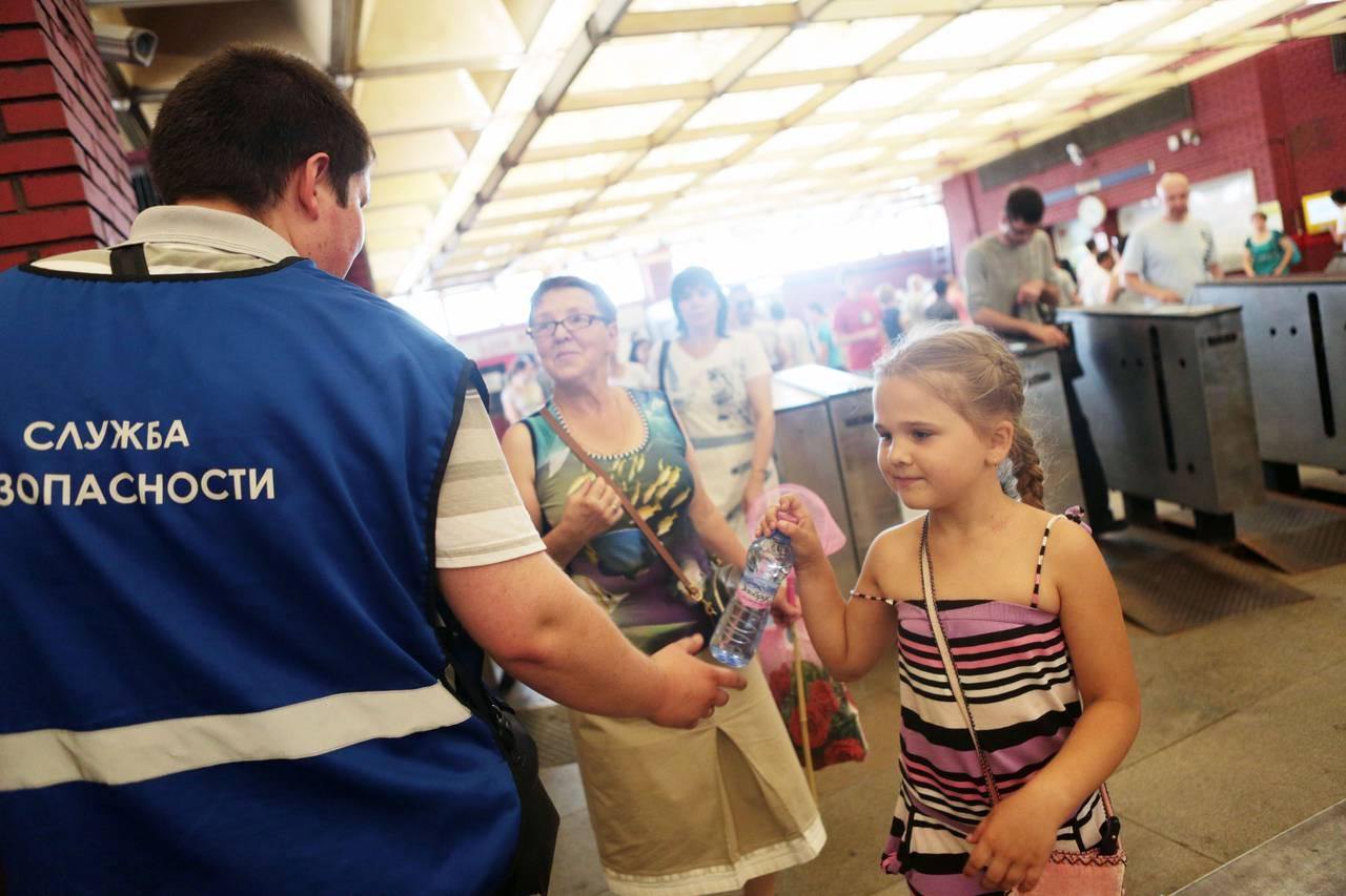 Раздачу воды организовали на станциях МЦК из-за жары
