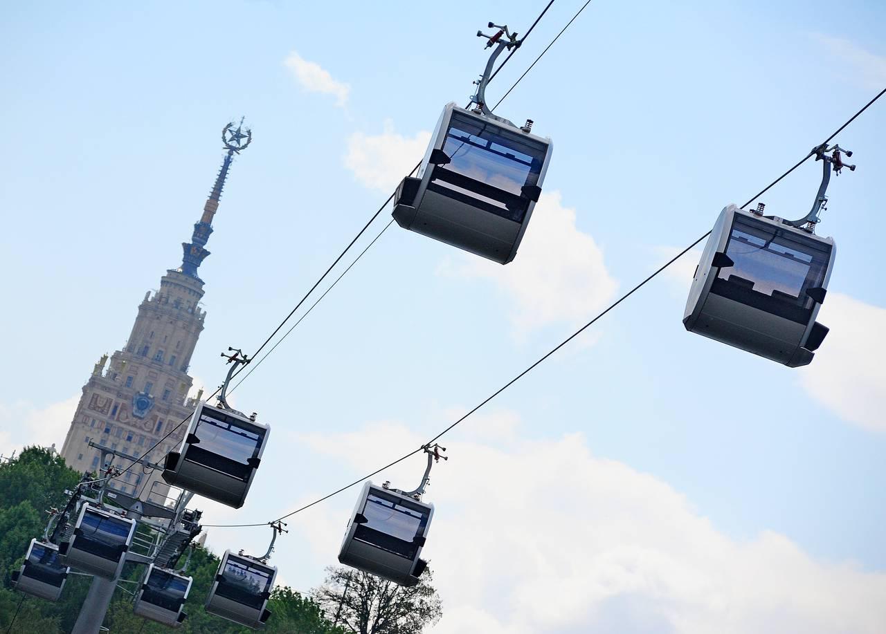 Канатная дорога в Москве сделает подарок молодоженам 8 июля