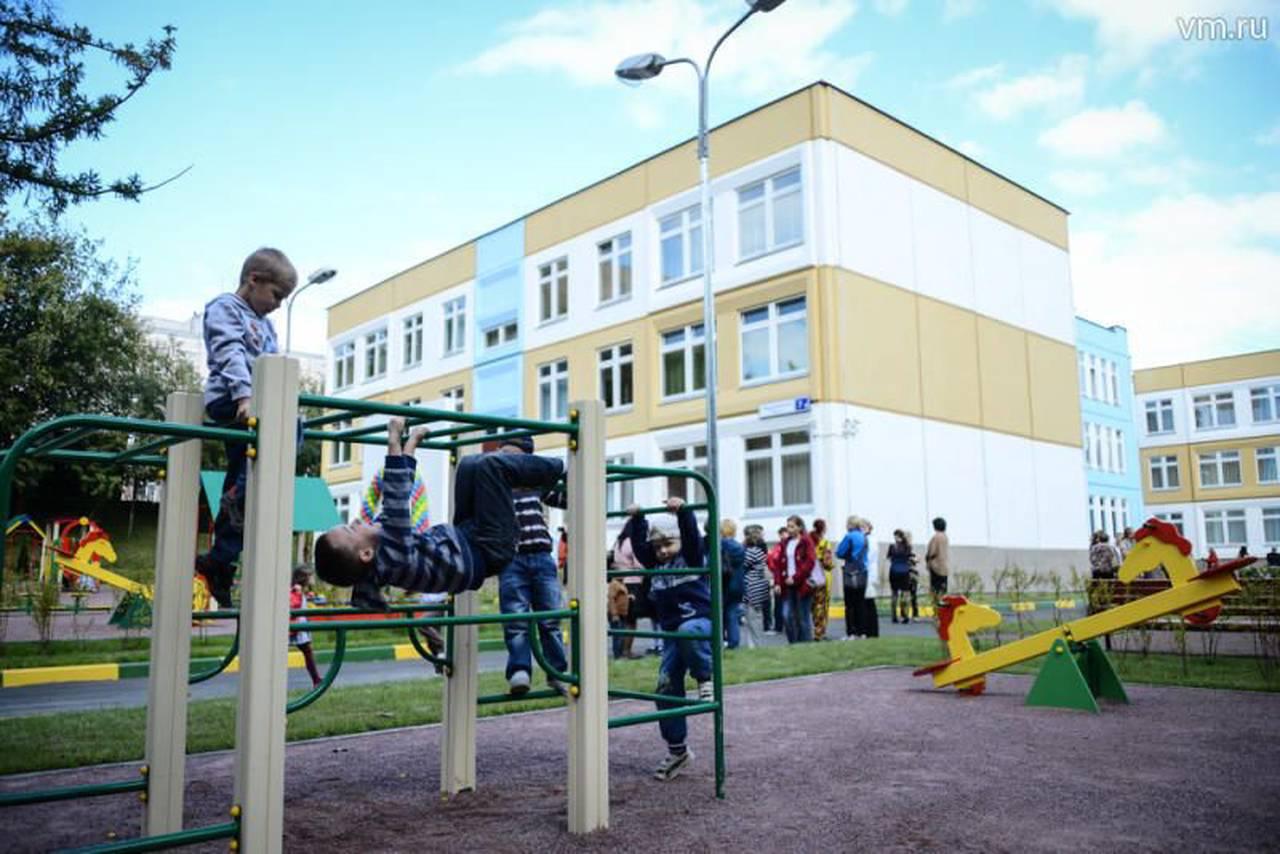Детский сад и школу построили в районе Москворечье-Сабурово