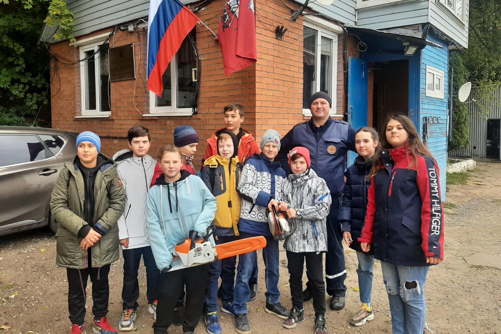Школьники побывали в гостях на «Борисовской»