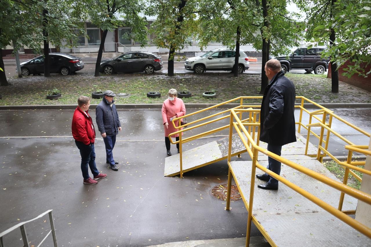 Мониторинг установки пандуса состоялся в Орехове-Борисове Южном