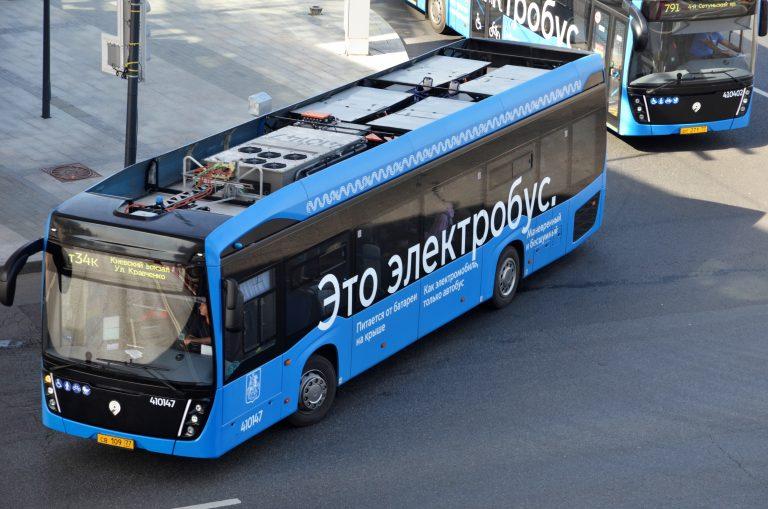 Юбилейный электробус запустили в Москве